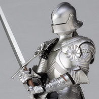 KT Project KT-021 Takeyashiki Jizaiokimono 15th Century Gothic Field Armor Silver Action Figure