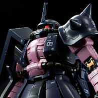 RG 1/144 MS-06R-1A Black Tri-Stars Zaku II Plastic Model ( MAY 2019 )