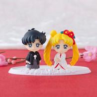 Petit Chara! Pretty Guardian Sailor Moon Happy Wedding Pure White Silk Kimono ver. PVC Figure