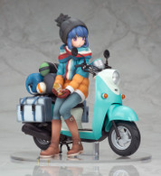 Yuru Camp Rin Shima with Scooter 1/10 PVC Figure
