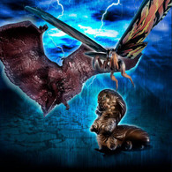 HG D + EX 01 Mothra & Rodan & Mothra LARVA Set