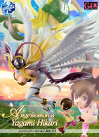 MegaHouse G.E.M.Digimon Adventure Angewomon & Yagami Hikari PVC Figure