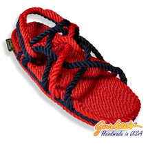 Signature Neptune Red & Navy Rope Sandals