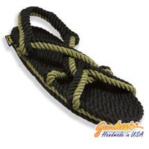 Signature Barbados Black & Olive Rope Sandals