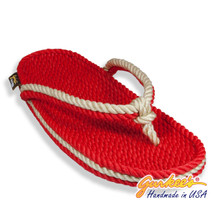 Signature Tobago Red & Natural Rope Sandals