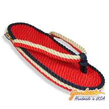Signature Tobago Red White & Blue Rope Sandals