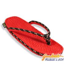 Signature Tobago Red & Mountain Rope Sandals