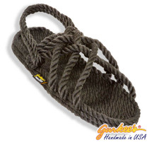 Classic Neptune Charcoal Rope Sandals