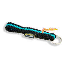 Gurkee's Black & Teal Rope Keychain