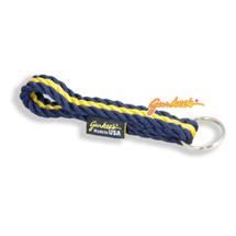 Gurkee's Blue & Gold Rope Keychain