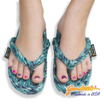 Tobago Ocean Tie Dye Rope Sandals