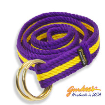 Signature Handmade Purple & Yellow Belt