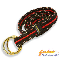 Signature Handmade Black and Red Mountain Rope Belt