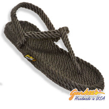 Classic Trinidad Charcoal Rope Sandals
