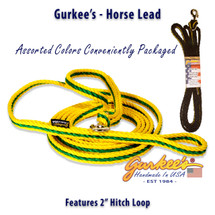 Yellow and Green Horse Lead Handmade in USA