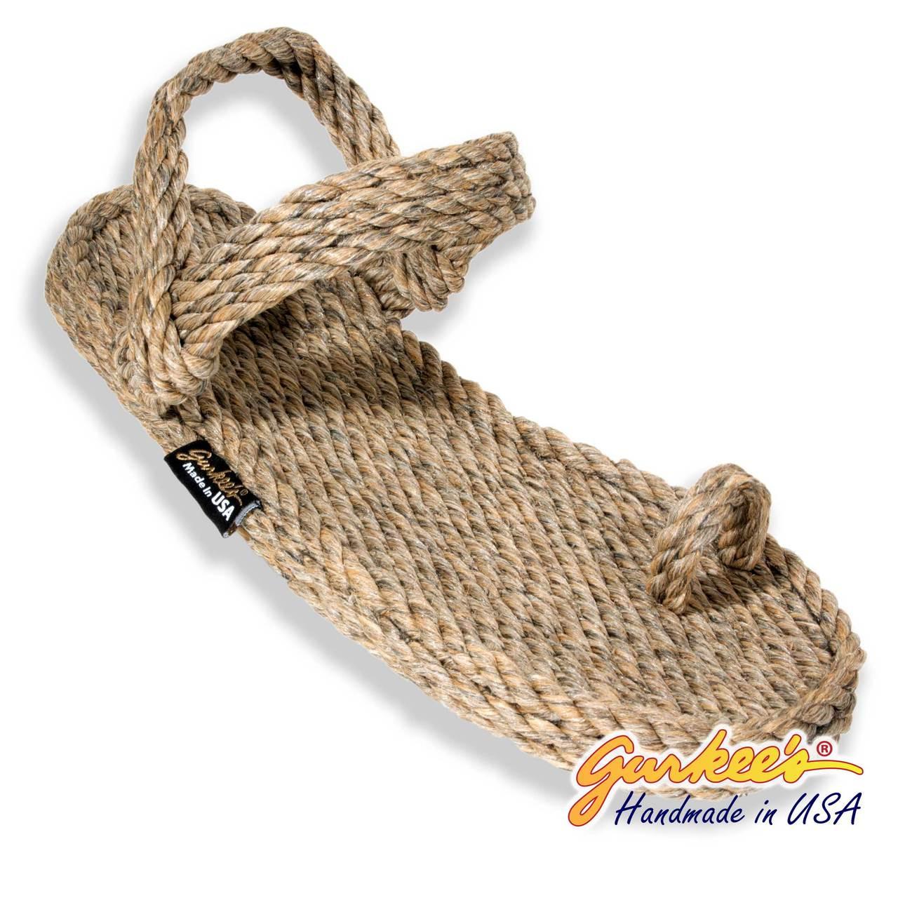 63399f4a18f1 Signature Kona Hemp Color Rope Sandals - Gurkee s