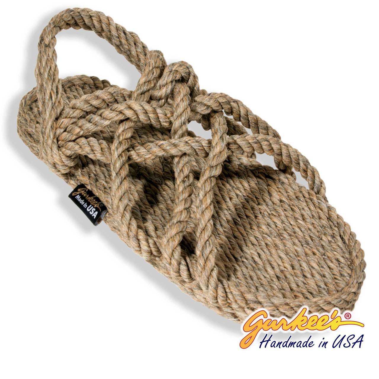 92de46d2baca Signature Neptune Hemp Color Rope Sandals - Gurkee s
