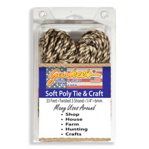 "Soft Poly Craft Rope Camo 33' (1/4""/6mm) FREE SHIP"