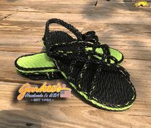 Neptune Green Matrix Color Rope Sandals