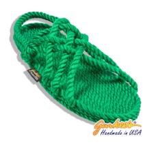 Classic Neptune Holly Green Rope Sandals