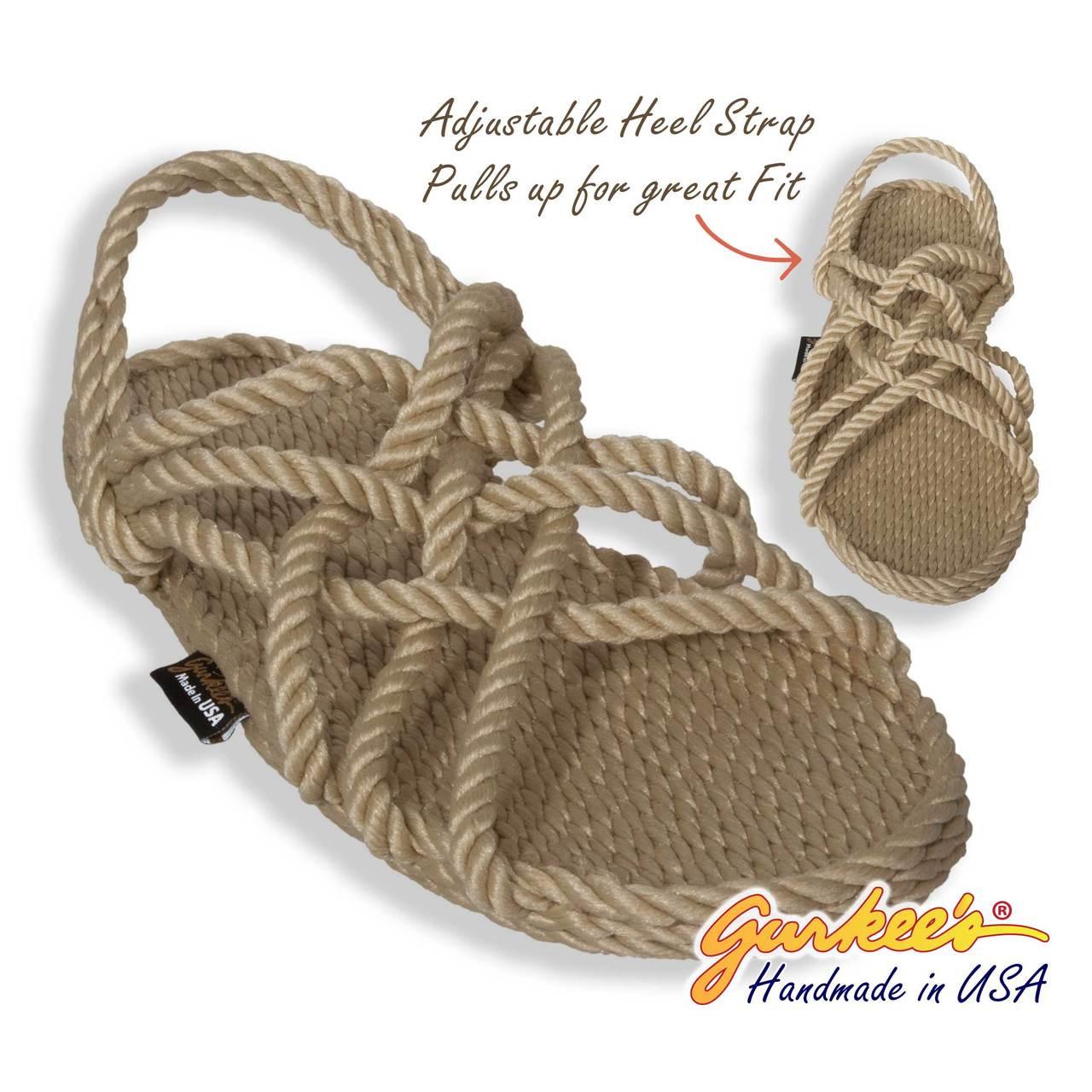 Classic Neptune Tan Rope Sandals - Gurkee's
