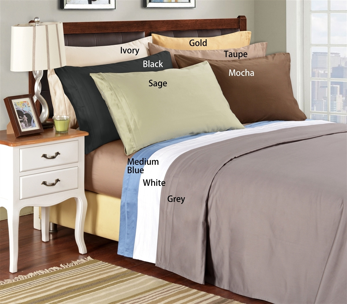 Emerald Collection 1500 Thread Count Egyptian Cotton California King Bed Sheets