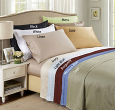Lido Collection - 600 Thread Count Egyptian Cotton Split Dual King Bed Sheets