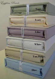 Percale Egyptian Cotton King Sheets