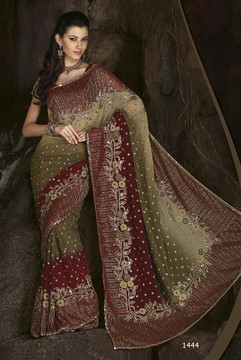 Stylish Exclusive Cocktail Party Wear Designer Saree