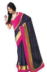 Beautiful Party Evening Dress Blue Saree Women Fashion Clothing Attire Sari