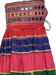 Ethnic Banjara Handmade Vintage Mirror Skirt Costume M