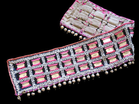 KUCHI BANJARA WIDE TRIBAL TEXTILE TRIM BELLY DANCE BELT