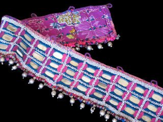 KUCHI BANJARA TRIBAL TEXTILE TRIM BELLY DANCE BEAD BELT