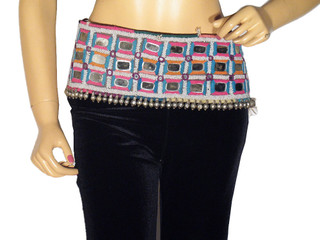 Handmade Belly Dancing Belt Ethnic Wear Clothing Gypsy Mirror Hip Textile