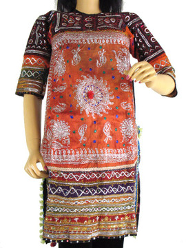 BANJARA KUCHI CHOLI TRIBAL COSTUME DRESS TUNIC KAMEEZ M