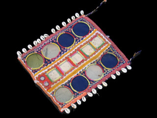 BANJARA VINTAGE INDIA KUTCH TEXTILE TRIBAL MIRROR PATCH