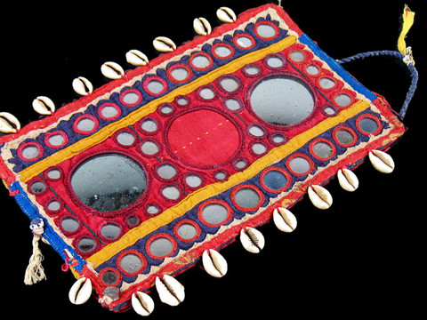 Kutch Cowrie Textile Treasure Cotton Fabric Tapestry