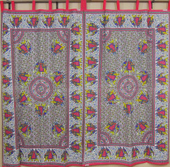 Elephant Curtains – Indian Elegant Window Panels with Traditional Block Printing