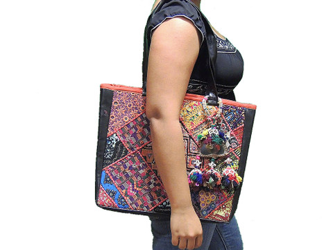 Hobo Handbag – Multicolor Kutch Fine Embroidery Ladies Fashion Shoulder Bag