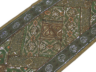 Amazing Wall Hanging - Green and Khaki Indian 60-inch Tapestry