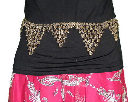 Coin Belt Belly Dance - Ladies Gold Fashion Waist Chain from India