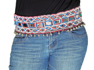 Mirror Belt - Ethnic Indian Gypsy Embroidered Costume Accessory