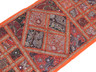 Bohemian Wall Tapestry - Orange Kundan Work 60 inch Eclectic Textile