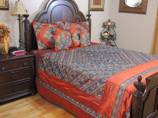 Luxury Queen Duvet Cover Set with Pillow Shams - Bohemian Indian Bedding