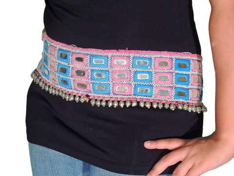 Ladies Dress Belt - Embroidered Fashionable Chic Mirror Work Accessory ~ One Size