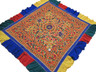 "Banjara Tribal Embroidery Wall Hanging Tapestry - Yellow Vintage Ethnic Decor 82"" x 75"""