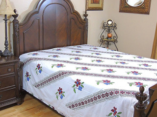 Indian Style Reversible Duvet Cotton Printed Comfortable Queen Floral Comforter