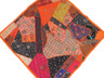 Orange Decorative Indian Wall Hanging - Patchwork Square Beaded Tapestry Textile 38""