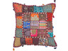 Multicolor Tapestry Floor Pillow Cover - Square Decorative Ethnic Euro Sham ~ 26 Inch