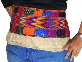 Bohemian Belly Dance Belt Tribal Hand Embroidered Mirror Attire Trim Accessory